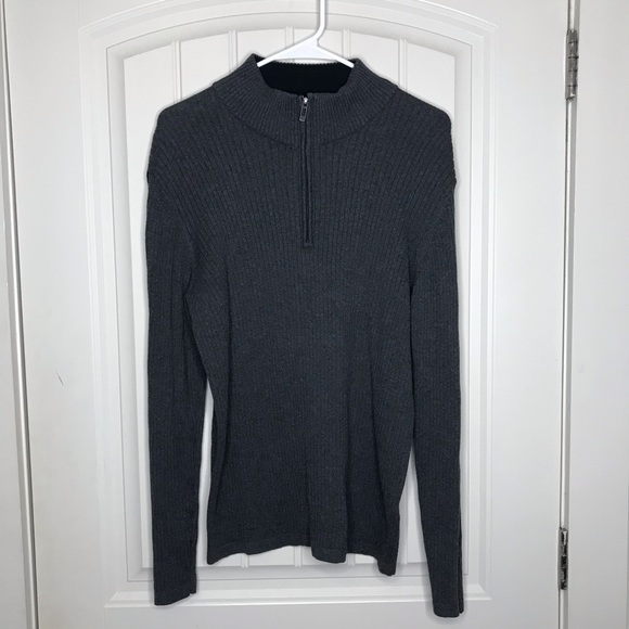 Gray Sweatshirt Perfect Dkny Half Soft Zip T1lFc3KJ